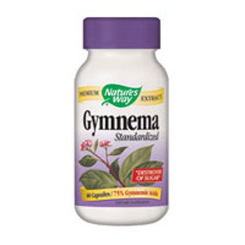 Nature's Way Gymnema Standardized, 500 Milligrams, 60 Vegetarian Capsules. Pack of 3 bottles.