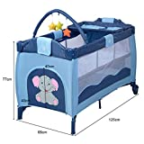 Giantex Nursery Center Playyard Baby Crib Set