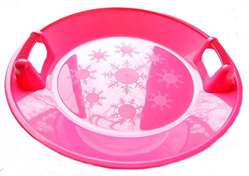 Snow Sled Kids Winter Plastic Saucer , 25-inch Diameter (PINK)