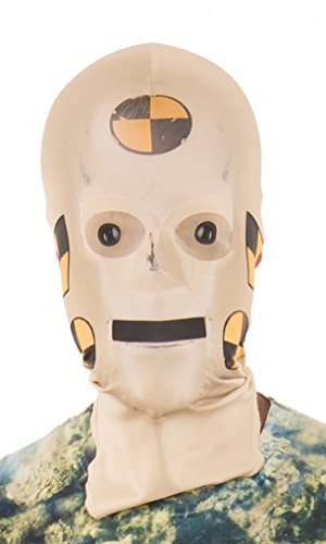 Adult Size Faux Real Crash Test Dummy Mask - Costume Accessory -
