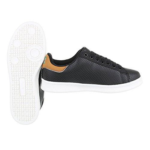 Ital-Design - Zapatillas de casa Mujer Schwarz 6158-Y