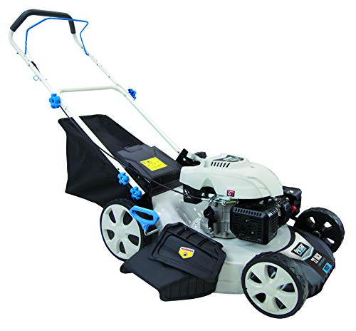 Pulsar PTG1221 21″ 173cc Gasoline Powered Walk Behind Push Mower with 7 Position Height Adjustment, White