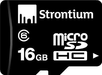 Strontium 16  GB Micro SDHC Memory Card  Class 6  Micro SD