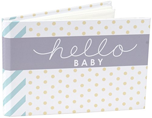Malden International Designs Hello Baby Photo Album, 40-4x6, White -