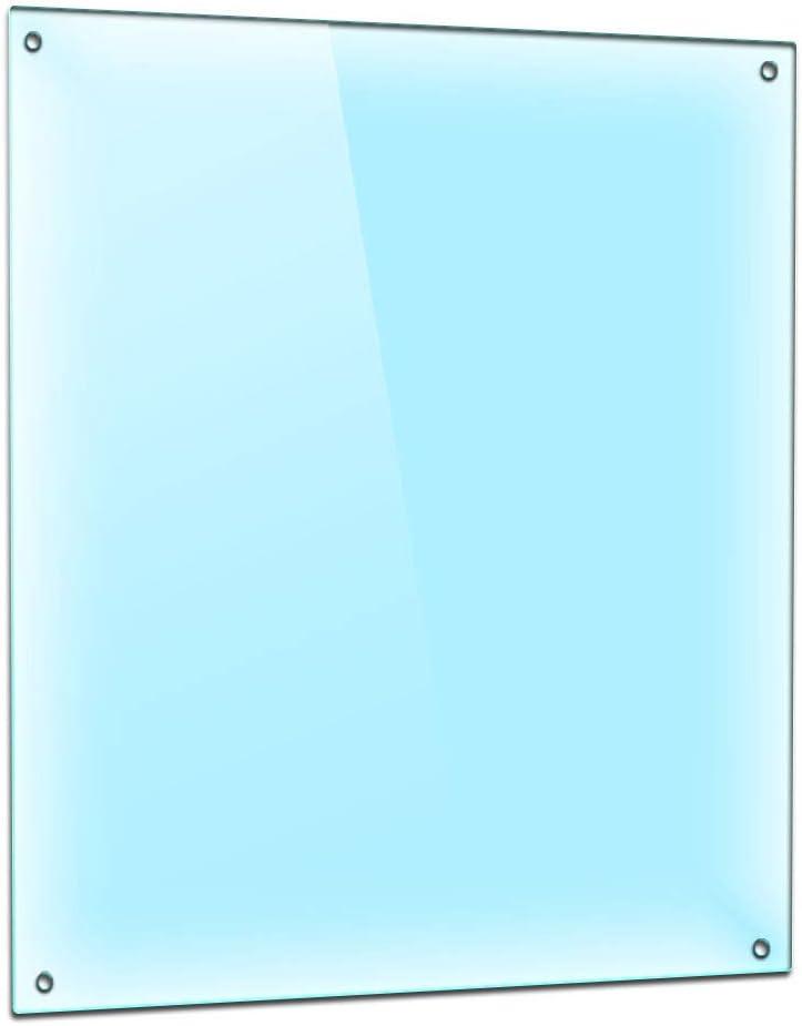 Herdabdeckplatte Einteilig 40x52 cm Ceranfeld Abdeckung Glas Spritzschutz Abdeckplatte Glasplatte Herd Ceranfeldabdeckung transparent TMK durchsichtig