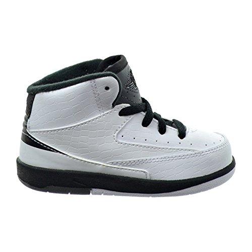 Jordan 2 Retro BT Toddler's Shoes WhiteBlackDark Grey