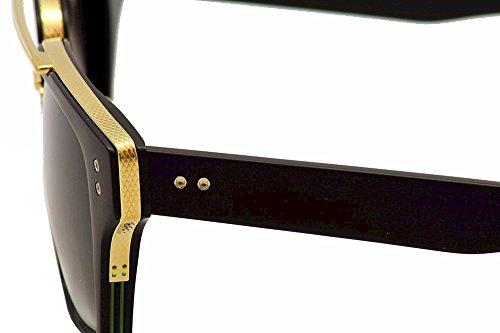 f36f7d6084d Dita Mach Three DRX-2059-A DRX-2059A Matte Black 18K Gold Retro ...