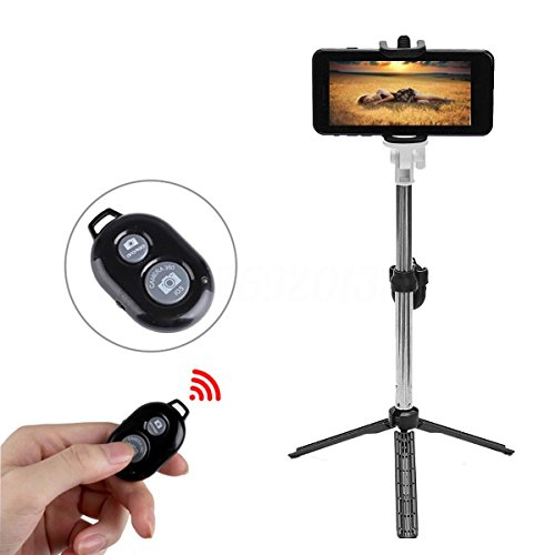 Verykool Quantum Sl5000 Bluetooth Selfie Stick Extendable with Handheld Shutter and Tripod (Quantum Steel Rod)