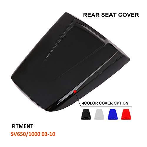 (AnXin Motorcycle Black Rear Seat Cowl Passenger Pillion Fairing Tail Cover For Suzuki SV650 SV1000 2003-2010)