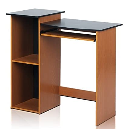 Review Furinno 99914R1LC/BK Econ Multipurpose Computer Writing Desk, Light Cherry/Black