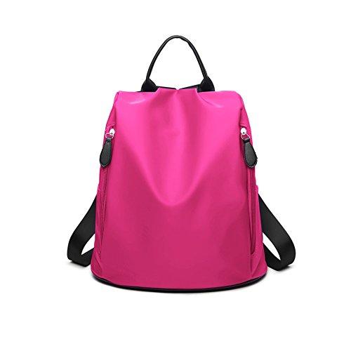 SJMMBB Canvas Backpack Travel Bag,Pink,34X31X14CM