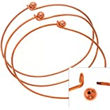Copper Plated Wire Beading Bracelet With Ball - Add A Bead (3 Bracelets)