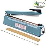 JD9 12 inches Plastic Heavy Duty IB Heat Sealer, Heat Sealer for Plastic Bag, Heat Sealer Machine, Heat Sealer for Plastic Bag 12' inch, Impulse Sealer, Impulse Sealer Machine, Packing Machine (Blue)