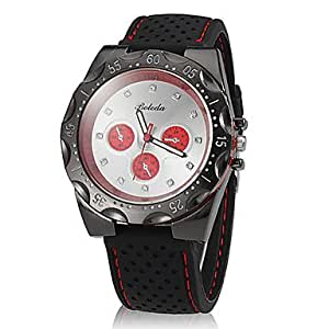ZA Unisex Simple Round Dial Silicone Band Quartz Analog Wrist Watch (Delivery color random)
