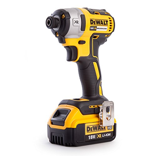 Dewalt DCF887M1-GB DCF887M1 XR Brushless Lithium-Ion Impact Driver, 18 V, Yellow/Black, 0