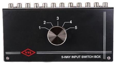 Five Input Source Tabletop Control Switch Box Internal Pc Board Design Metal (Rca Audio Switch)