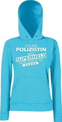 Shirtstown Mujer Capucha eatshirt Soy Mujer policía, weil Súper héroes ningún Oficio ist, Tallas XS-XXL Púrpura