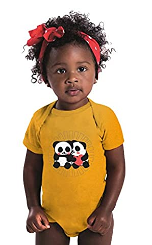 Panda love, Lovely Panda Infant Baby Rib Bodysuit Gold 6 Months (Wwf Cheetah)
