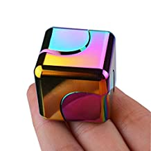 Fidget Spinner and Fidget Cube Made of Metal Toy Stress High Speed Steel Bearing - Perfect For ADD, ADHD, Anxiety, and Autism Adult Children,CAN CHANGE COUNTENANCE,Come with Gift Box
