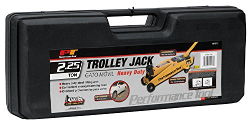 Performance Tool W1611 Yellow Steel Frame-TROLLEY JACKS 2-1/4 Ton (4,500 lbs) Tool