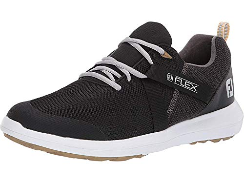 FootJoy Men's FJ Flex Golf Shoes 56103 - Black - 7.5 - Wide by FootJoy