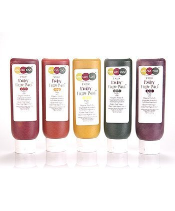 Wee Can Too Original Edible Finger Paint Made With Organic Ingredients - 5Pc Set by Wee Can Too
