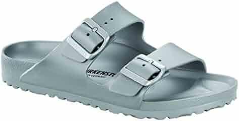 c0588b431 Birkenstock Unisex Arizona Essentials EVA Metallic Silver Sandals - 37  Narrow EU
