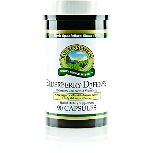 NATURE'S SUNSHINE Elderberry Defense Capsules, 90 Count