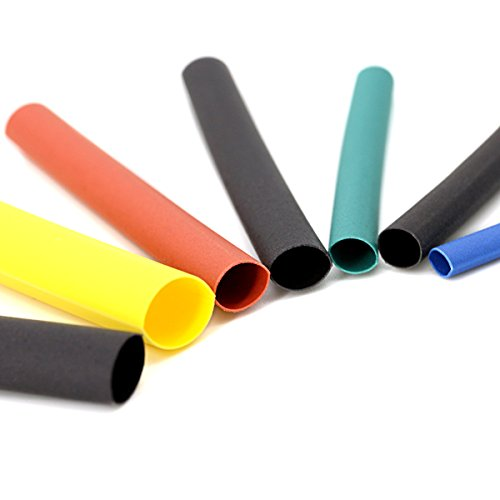 11 Sizes Phyles Heat Shrink Tubing 2:1 Electric Insulation Tube Heat Shrink Wrap Cable Sleeve 6 Colors 580 Pcs