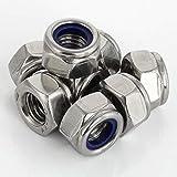 M5 Nylon Insert Hex Lock Nuts, Stainless Steel 18-8