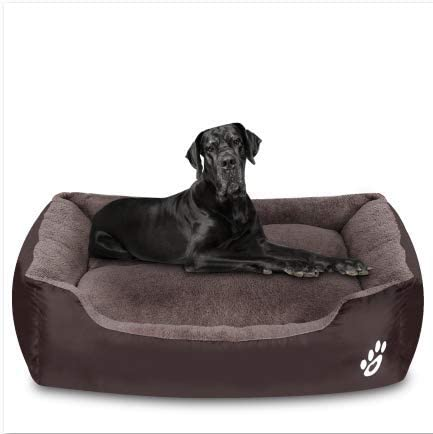 Amazon Com Utotol Dog Beds For Jumbo Dogs Rectangle Washable Pet Bed With Firm Breathable For Cats Sleeping Orthopedic Beds Brown Pet Supplies