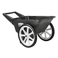 Carrito comercial para ruedas grandes Rubbermaid, capacidad de 200 libras, negro, FG565461BLA