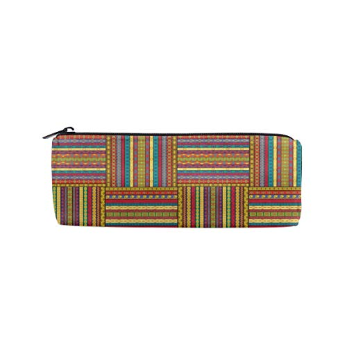 - UNIQUEISME Pencil Bags - Ethnic Borders Pattern Old Fashioned Ancient Culture Theme Pencil Pouch School Home Office for Students, Travel Cosmetic Makeup Bag for Women