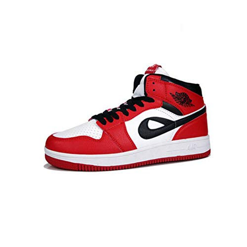 FH Zapatos tacón Alto Zapatos Casuales Coreanos Zapatos Deportivos Hip-Hop Mujeres (Color : Red White, Size : EU36/UK4/CN36)