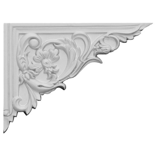 Ekena Millwork SB08X06FL-R 8 5/8-Inch W by 6 1/4-Inch H by 5/8-Inch D Flower Stair Bracket, Right
