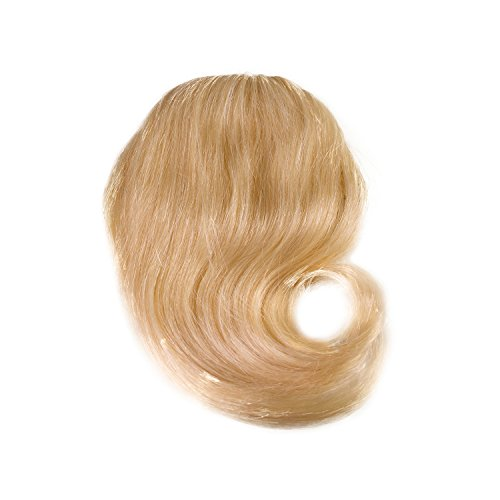 Price comparison product image Sono 1 Count 100% Human Hair Straight Across Clip-In Bang Extensions,  1001 Platinum Blonde