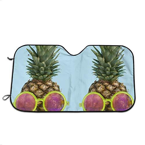 (LAIUE Sunglasses Pineapple Partner Auto Windshield Sun Shade for Car SUV Truck Keep Vehicle Cool Block Sun GlareUV and Heat Protect Car Interior)