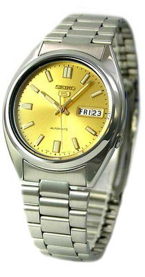 Seiko-Mens-SNXS81K-Seiko-5-Automatic-Gold-Dial-Stainless-Steel-Watch