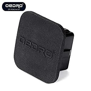 oEdRo 2 inch Trailer Hitch Tube Rubber Cover Plug, Universal Black Trailer Hitch Cover Tube Plug Insert