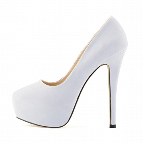 girls shoes White high heels ladies women party ladies wedding platform heels SODIAL stiletto R high 38 concealed xXwXAT0q
