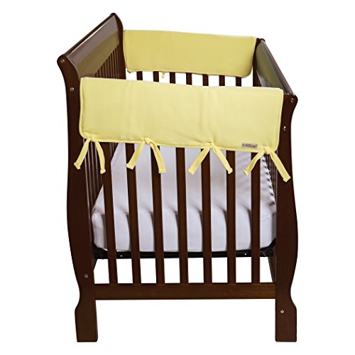 Trend Lab Waterproof CribWrap Rail Cover - for Wide Side Crib Rails Made to Fit Rails up to 18