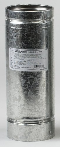 Galvanized Stove Pipe (SELKIRK CORP 243060 3x5 Pellet Stove Pipe)