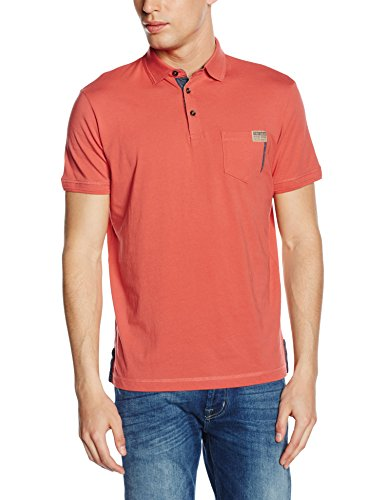 Tom Tailor polo with contrast details/603 - Polo - Homme Rouge (dusty mineral red 4502)