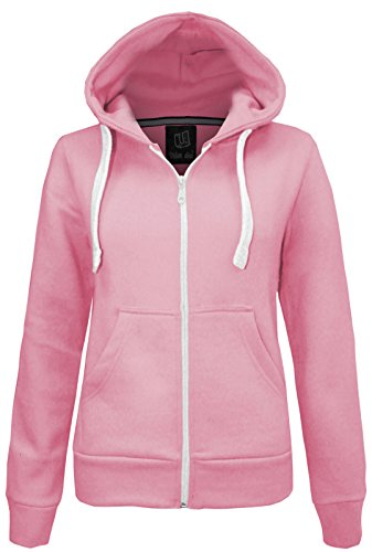 Candy Floss Donna Felpa Con Cappuccio Giacca In Pile Top Taglia 8-20 Baby Pink