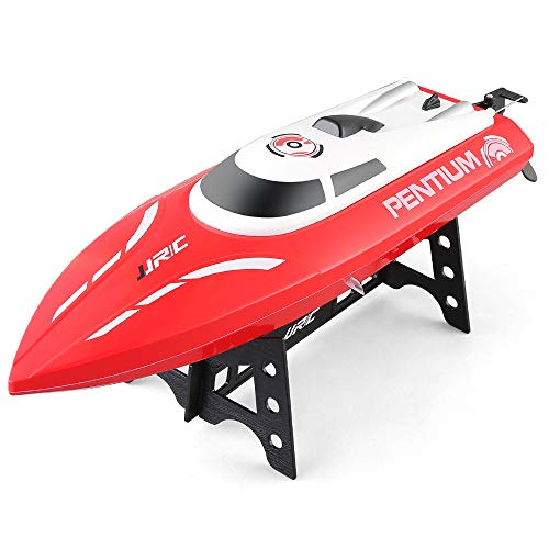 (RC Boat Speedboat -JJRC S1 25Km/h Fast Portable Remote Contro Boat for Kids and Adults, 2.4 Ghz Transmitter, Professional Series (Red, Pentium RC Mini Boat))