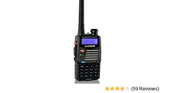 Baofeng UV5RA Ham Two Way Radio 136-174//400-480 MHz Dual-Band Transceiver Black