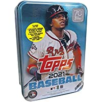 $28 » 2021 Topps Series 1 MLB Baseball Tin (75 cards/bx, Acuna)