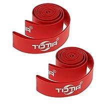 """MonkeyJack Pack of 2 High Pressure 20mm Nylon Bike Wheel Bicycle Rim Tape Strip 26"""" Red"""