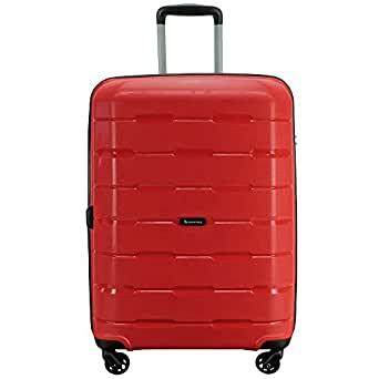 QANTAS Brisbane 4 Wheel Trolley Suitcase, Red, 68cm