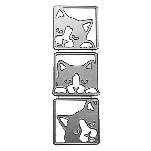 Danyerst Cute Dog Metal Cutting Dies Stencil DIY Scrapbooking Album Stamp Paper Card Embossing Crafts Decor -